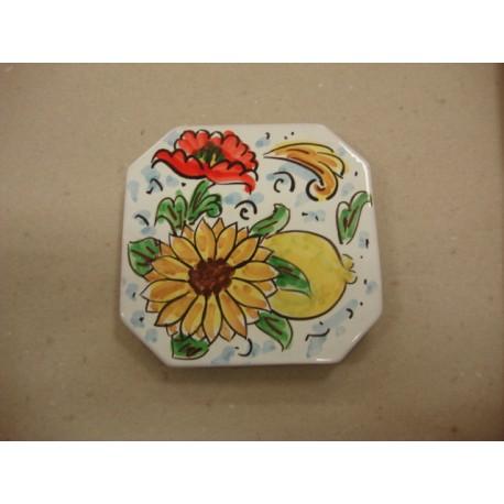 Poggiapentola 12x12 ceramica di Caltagirone