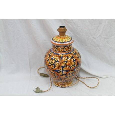 lampada in ceramica di caltagirone fatta a mano